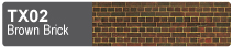 Scalescenes Brown Brick Swatch