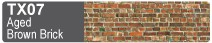 Scalescenes Aged Brown Brick Swatch