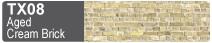 Scalescenes Aged Cream Brick Swatch