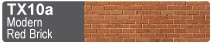 Scalescenes Modern Red Brick Swatch