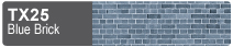 Scalescenes Blue Brick Swatch