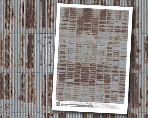 Scalescenes Aged Corrugated Iron
