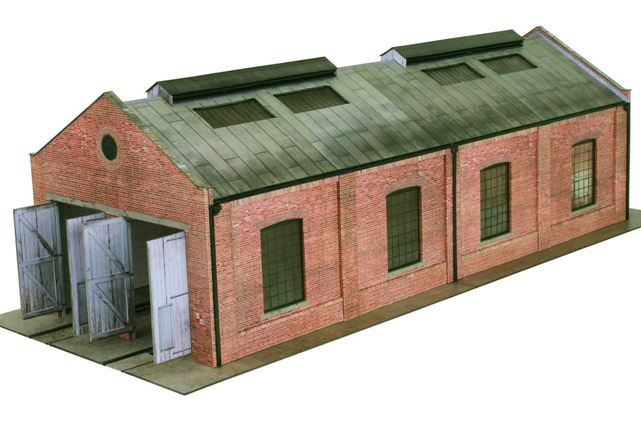 Scalescenes Gable Roof Engine Shed