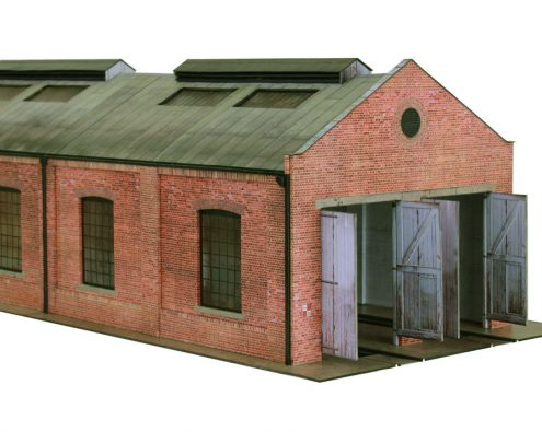 Scalescenes R022b Gable Roof Engine Shed