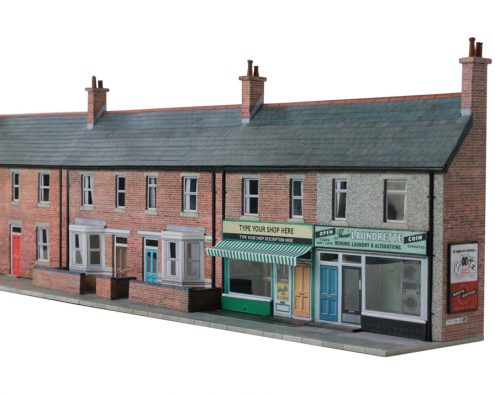 Scalescenes T008a Low Relief House fronts and shops