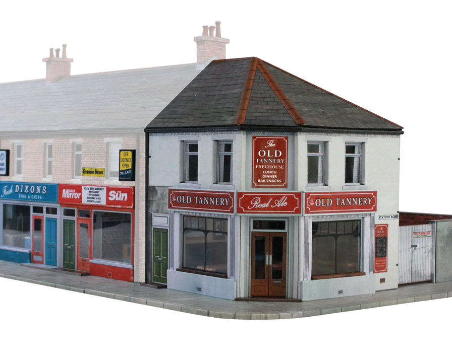 T022c corner shops scalescenes for Whats a terraced house