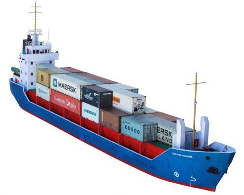 Scalescenes Modern Cargo Ship